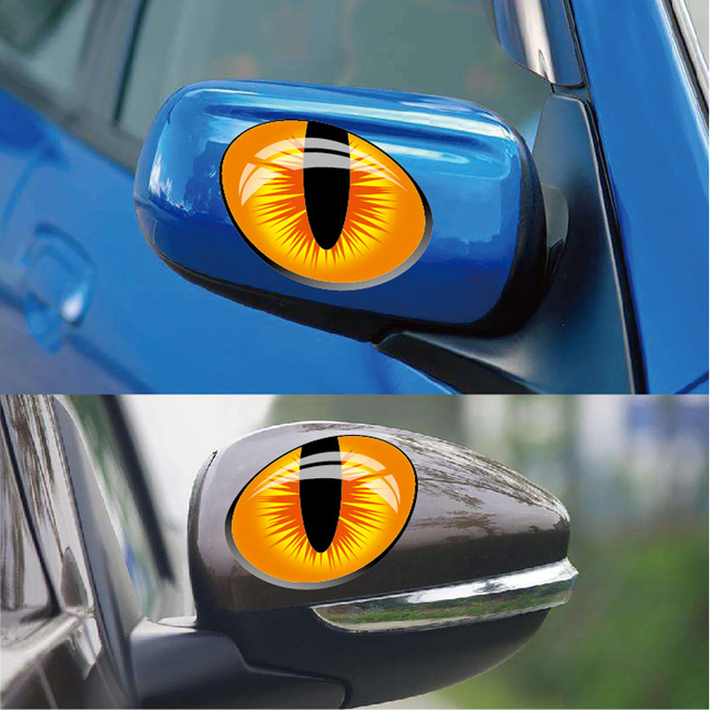A Pair 3D Stereo Reflective Cat Eyes Car Stickers Vinyl