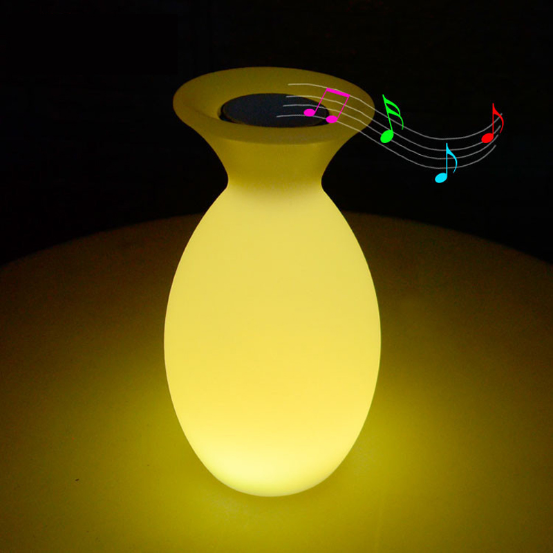 Rechargeable Bluetooth Speaker LED Night Light RGB Remote Control Table Bar Home Music Restaurant KTV Indoor Decor Lamp Fixtures creative waterproof egg shape rgb led table lamp with remote control for bedroom bar restaurant chargeable night light 1330