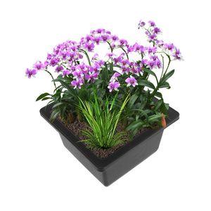 Image 1 - Pretty Flower Pot Balcony Square Flower Bonsai Bowl Nursery Basin pots Planter Rectangle Flower Pots