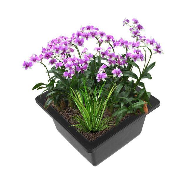 Pretty Flower Pot Balcony Square Flower Bonsai Bowl Nursery Basin pots Planter Rectangle Flower Pots