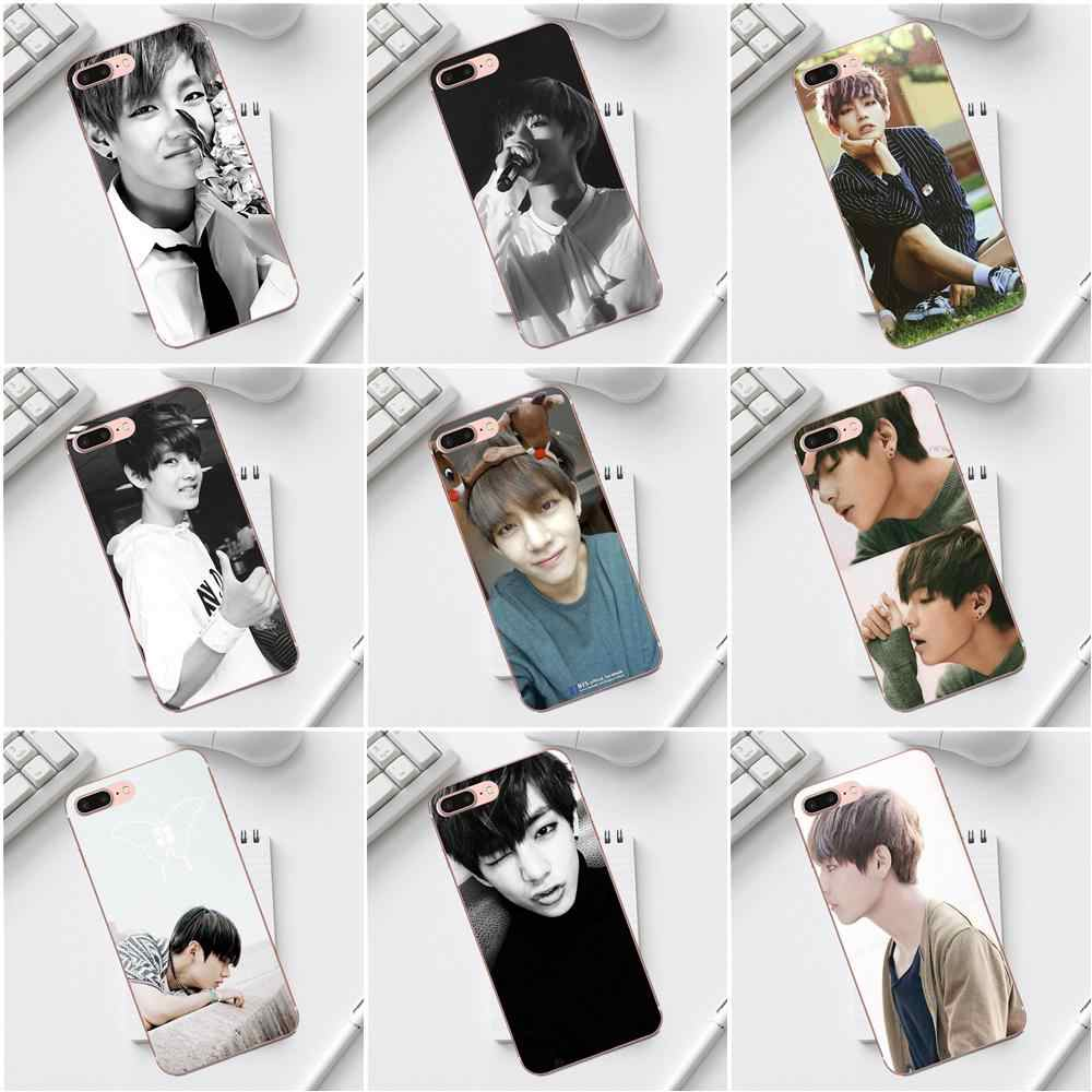 Чехлы qdoupz Bangtan Boys Taehyung Run для iPhone X XS Max XR 4 4S 5 5C SE 6 6S 7 8 Plus Galaxy A3 A5 J1 J3 J5 J7 2017