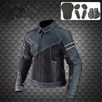 Komine JK 006 Denim Mesh Motorcycle Protective Jacket moto Off road Motocross Racing Drop Clothing chaqueta moto hombre S 3XL