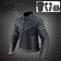 Komine JK 006 Denim Mesh Motorcycle Protective Jacket moto Off road Motocross Racing Drop Clothing chaqueta moto hombre S 3XL