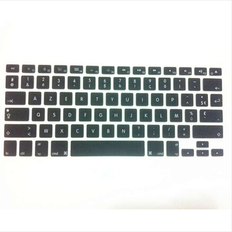 Film Pour Clavier UK EU Silicone Keyboard Cover Skin Protector Film for MacBook Air Pro Retina 13 15 17 for Mac Air 13.3 Inch-Blue