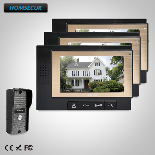 HOMSECUR 7 Wired Video Door Entry Security Intercom with IR Night Vision  : TC031  + TM702-B  HOMSECUR 7 Wired Video Door Entry Security Intercom with IR Night Vision  : TC031  + TM702-B