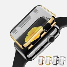 Thin Metal Plated Full Screen Protector Case Cover for Apple iWatch 38mm