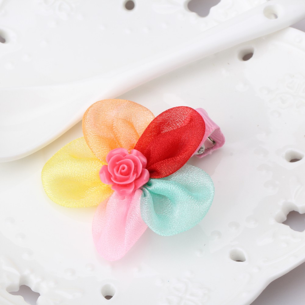 New Style Chiffon Rose Flower Hairpins Kids 5 Mulitcolor Floral Hair Accessories Children Hairpin Baby Barrette Lovely Hair Clip ophir 0 3mm airbrush kit with mini air compressor single action airbrush gun for cake decorating nail art cosmetics ac002 ac007