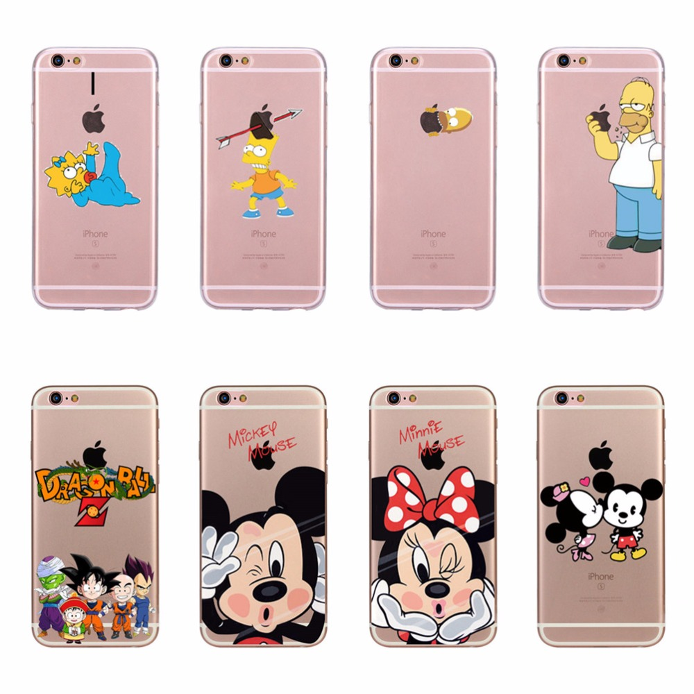 Case For Apple iPhone 6 Plus / 7 Plus / 8 Plus Cartoon Mickey Minnie Mouse TPU Silicone Soft Cover Cases For 6plus 7plus 8plus