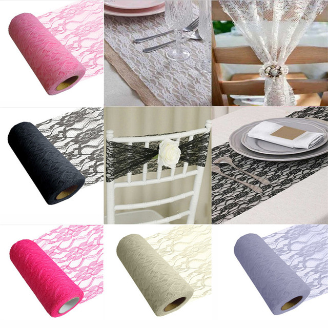 Us 327 20 Offlace Tulle Spool Ribbon Mesh Netting Fabric Diy Wedding Decoration Mariage Party Chair Sash Organza Table Runner Favors In Lace From