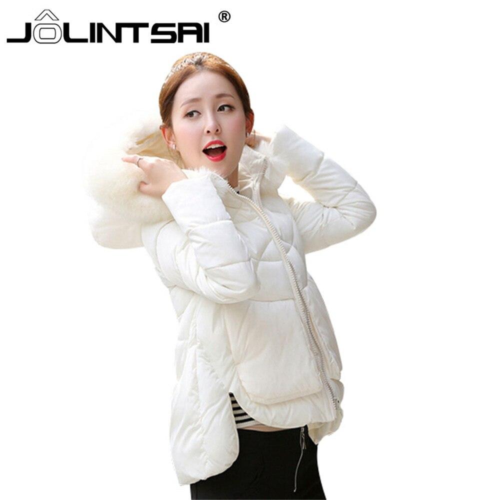 Wadded Jacket Female 2017 New Women's Winter Jacket Down Cotton Jacket Slim Fur Collar Hooded Parkas Ladies Coat Plus Size M-XXL