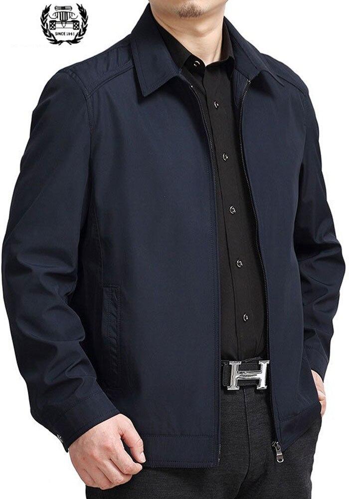Hommes vêtements 2019 nouveau printemps mode vestes 7XL hommes mince solide couleur à manches longues grande taille vestes manteaux hommes vêtements décontracté