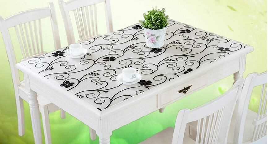 Acheter Table Basse Transparente ~   Tablecloth Table Mat Disposable Table Mats With Frosted Crystal Pad