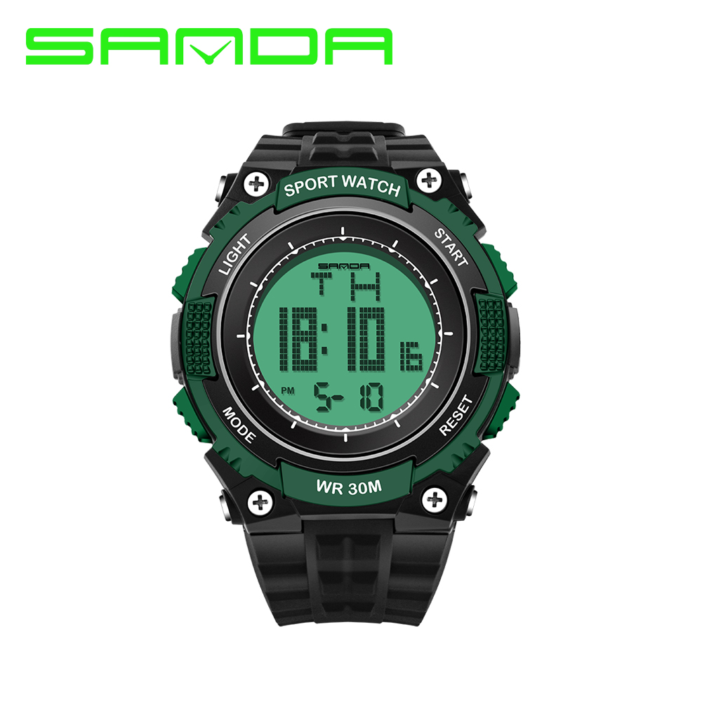 2017 New Brand SANDA Sports Watch Men Women Lover s Clock Montre Homme Water Resistant Calendar