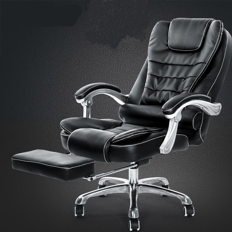 hick lift rotation massage chair modern simple office boss chair backrest adjustable with footrest comfortable computer chair Thicken Cushion Soft Boss Chair Reclining Office Chair Lift Household Massage Chair with Footrest Swivel Computer Chair Soft