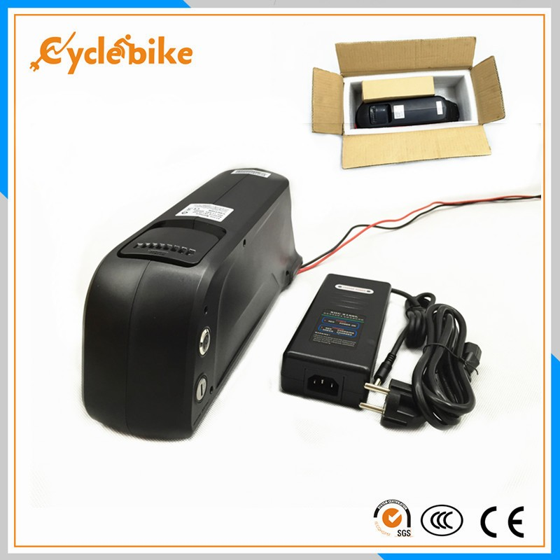 48v 11 6ah NCR18650PF cell electric bike dolphin lithium battery with 2A charger for 1000w ebike