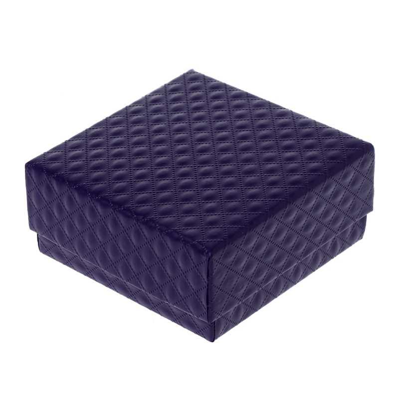 NTTHNCF Kraft ของขวัญกล่องเครื่องประดับ Cotton Matte เลียนแบบหนัง PU แหวนสร้อยคอกล่อง