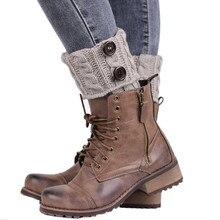 Зимние женские теплые одноцветные гетры, вязаные носки, женские вязаные носки, гетры для обуви, Chausettes Femme 010