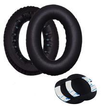 High quality foam ear pads cushions for Bose QC2 QC15 AE2 AE2i AE2w headphones 1 pair of black replacement protein leather memory foam ear pads caps cushion almofadas de ouvido for bose qc15 ae2 ae2i ae2w qc