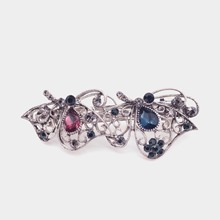 Korean ancient jewelry hair headdress hairpin crystal butterfly spring clip word folder boutique wholesale