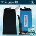 Original em preto ou branco para lenovo p70 display lcd e montagem da tela de toque para lenovo p70 p70-t p70t p70-a + ferramentas
