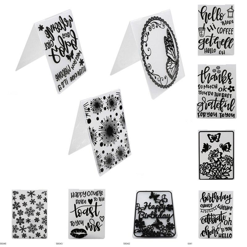 Plastic Embossing Folders Template Stamp Photo Al Sbooking Making Tool Wedding Decor Diy Craft Card
