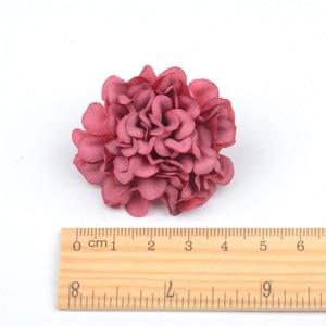 Image 5 - 10 ピース/ロット安い造花シルクアジサイヘッド結婚式の装飾diy花輪スクラップブッキングクラフト偽花