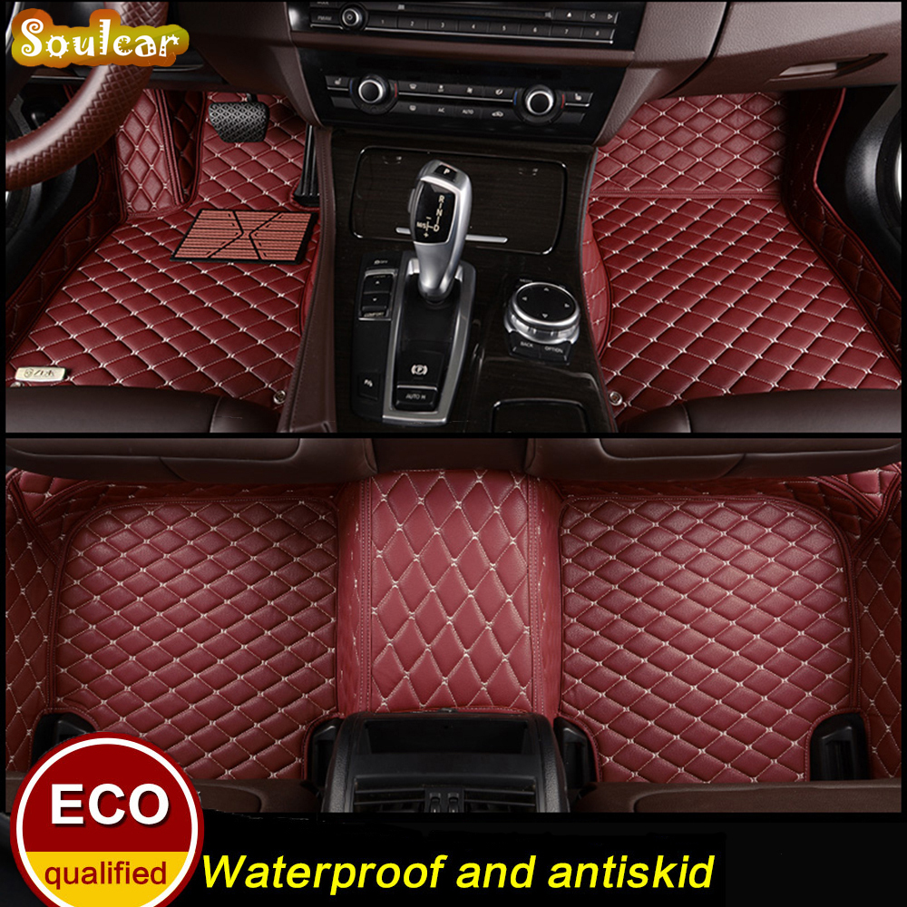 Custom fit Car floor mats for BMW X1 E84 F48 F49 X3 E83 F25 G01 X4 F26 2004-2017 car accessories trunk floor mats carpet 3d trunk mat for peugeot 508 waterproof car protector carpet auto floor mats keep clean interior accessories