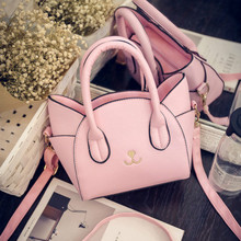 Chic Cat Bags Cute Woman Wing Handbags Fashion PU Messenger Bags