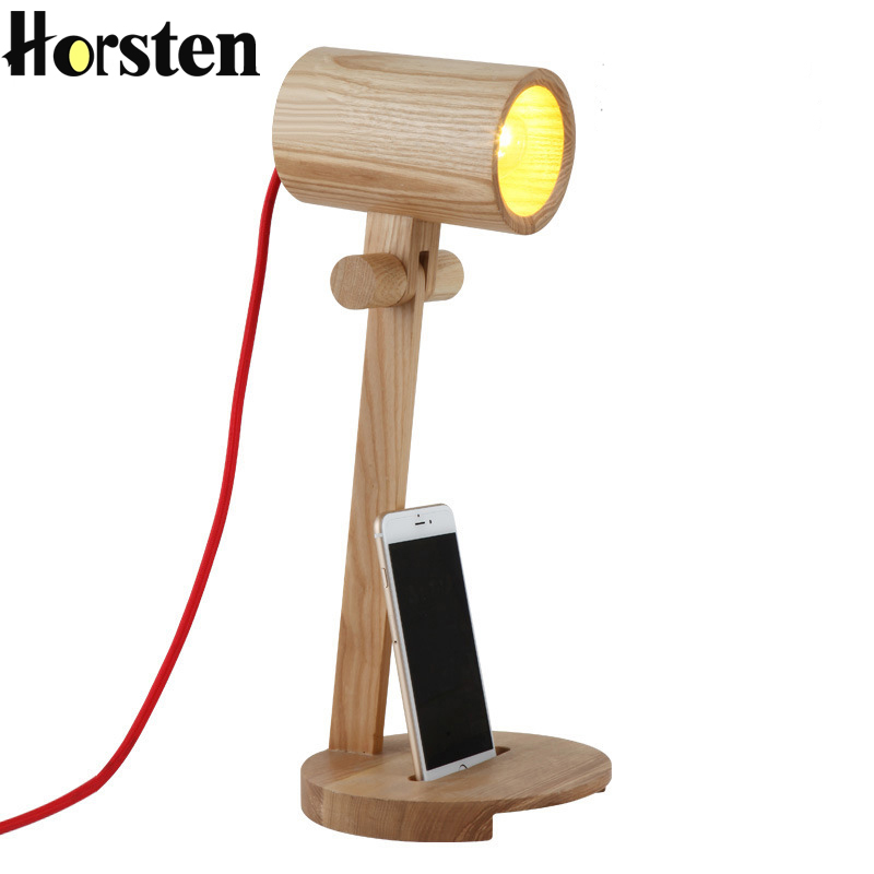Horsten 110-220V Art Decorative Table Lamp Vintage Wood Read Table Lamp Study Living Room Bedroom Desk Light Best Gift decorative table lamp vintage wood plastic rustic style brief modern lampshade living room bedroom 110 220v desk light 1936