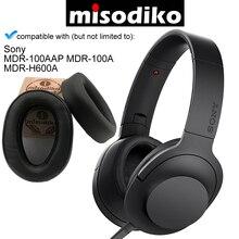 Misodiko cojines de repuesto almohadillas para los oídos para Sony MDR 100A MDR 100AAP/ h. Ear on 2 MDR H600A, piezas de reparación de auriculares Earpads Cup