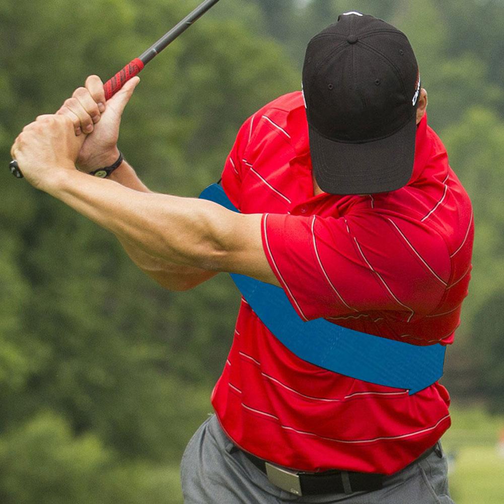 Golf Arm Posture Motion Correction Belt Golf Training Aids Golf Equipment Elastic Arm Posture Correction Band Belt 39x7cm