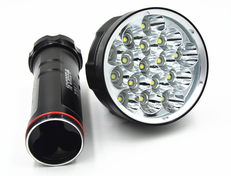 2015 New 16*CREE T6 LED 3 Mode 20000 Lumens 18650 Flashlight Torch Light Lamp For Camping Hunting