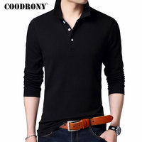 COODRONY 100% Cotton T Shirt Men Brand Clothes 2018 Autumn Long Sleeve T Shirt Men Casual Classic Pure Color Tee Shirt Homme 615