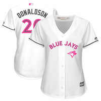 MLB Women S New Toronto Blue Jays Josh Donaldson White Mother S Day Cool Base Replica