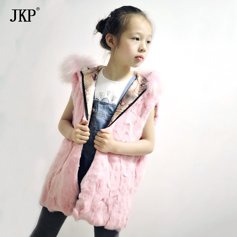 Kids Real Rex rabbit Fur Vest Children Girls Winter Thick Warm rabbit Fur Clothes baby Vests Coat new russia fur hat winter boy girl real rex rabbit fur hat children warm kids fur hat women ear bunny fur hat cap