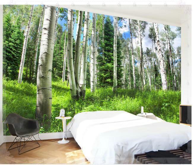 aliexpress.com : acquista carta da parati foresta paesaggio sullo ... - Carta Da Parati Paesaggi Naturali