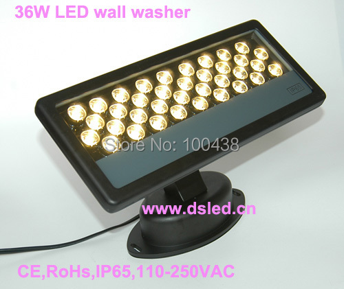 CE,Waterproof,high power 36W Warmwhite LED wall washer,good quality EDISON chip.DS-T03-36W,110V-250VAC.2-year warranty