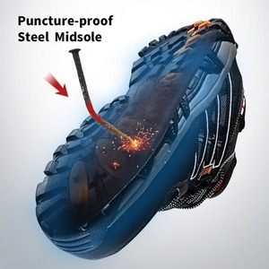 Image 3 - Men Steel Toe Construction Work Shoes Puncture Proof Breathable Safety Shoes With Steel Toe Cap