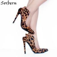 Sorbern Leopard Slip On Slingbacks Women Pump High Heels Runway Shoes Fetish High Heels Brown Designer Heels Fenty Shoes