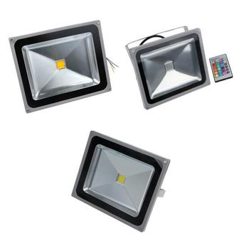 AC85-265V 10W 20W 30W RGB LED Outdoor Reflector Floodlight Waterproof Multicolor RGB warm white Spotlight+ 24key IR Remote