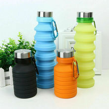 550ML Foldable Water Bottles Squeezed Reusable Folding Sports Travel Climbing Hiking Drink