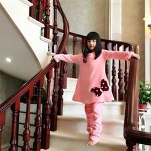 Nightgowns for Girls Flannel Long Nightdress Winter Pajamas warm Nightwear Girl Robe children's lounge nightshirt