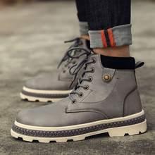 Мужские теплые водонепроницаемые резиновые ботинки miubu новинка