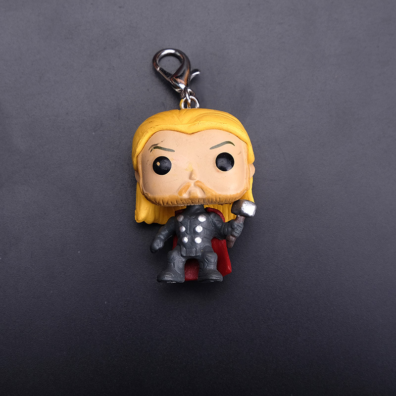 2019 New Pop Keychains Marvel Captain America Iron Man Key Ring Zinc Alloy Car Key Chain Groot Key Fob Bag Pendant Jewelry in Key Chains from Jewelry Accessories