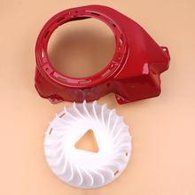 RED Recoil Shroud Cover Housing Cooling Fan For HONDA GX390 GX340 GX 390 340 188F 11-13HP Gas Engine Motor Generator Water Pump recoil starter cup hand recoil pull starter assembly fit for honda gx340 11hp gx390 13hp generator pump engine parts