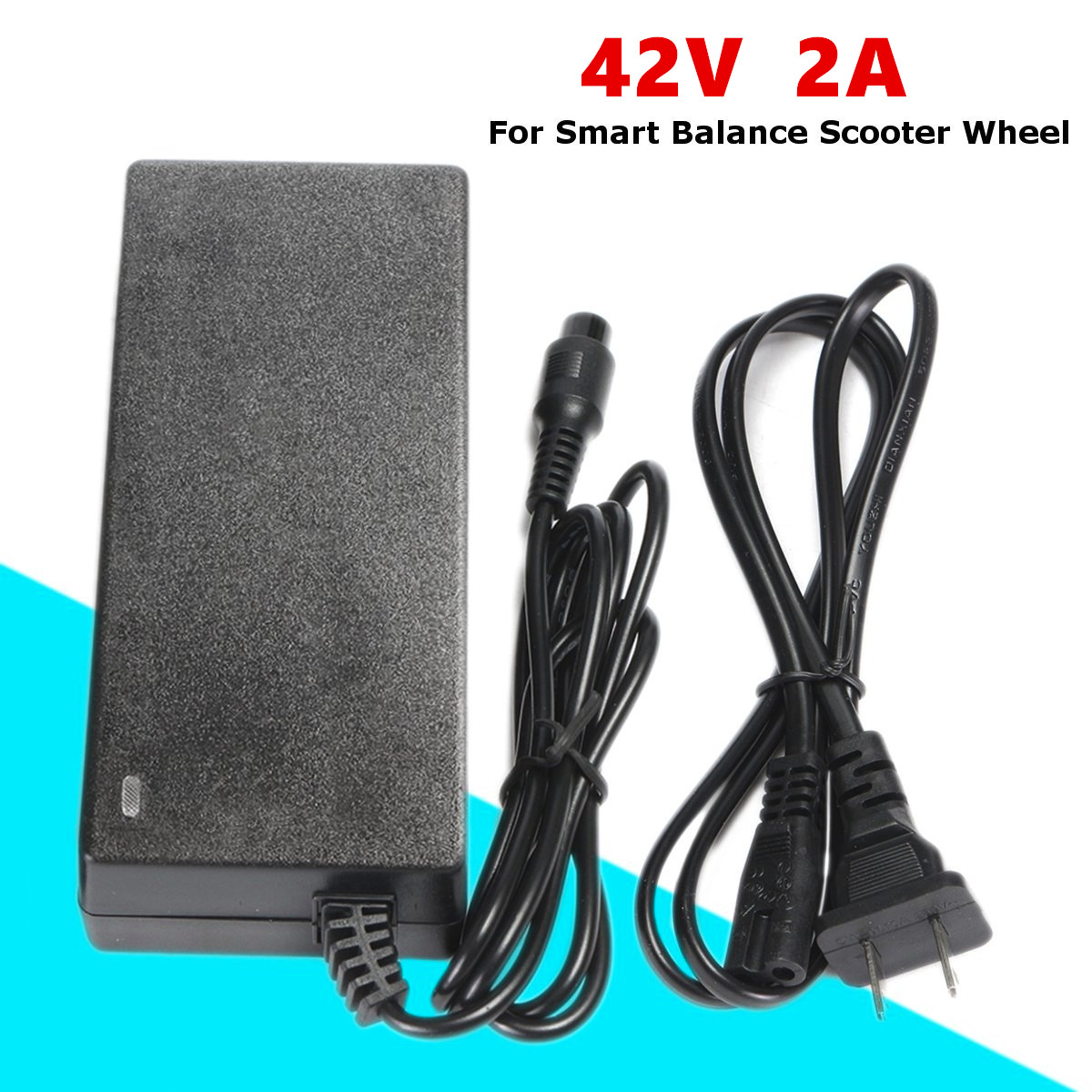 42V 2A AC DC Power Adapter Battery Charger For Smart Balance Scooter Wheel 13x5.5x3cm