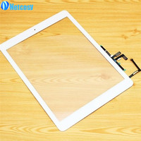 For Ipad Air Black White Touch Glass Screen Digitizer Home Button Adhesive Assembly Replecement Parts