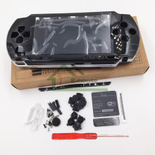 [With Free Sticker] Black Color For PSP 1000 PSP1000 Full Housing Shell Cover Case Replacement Buttons Kit With Best Quality(China)
