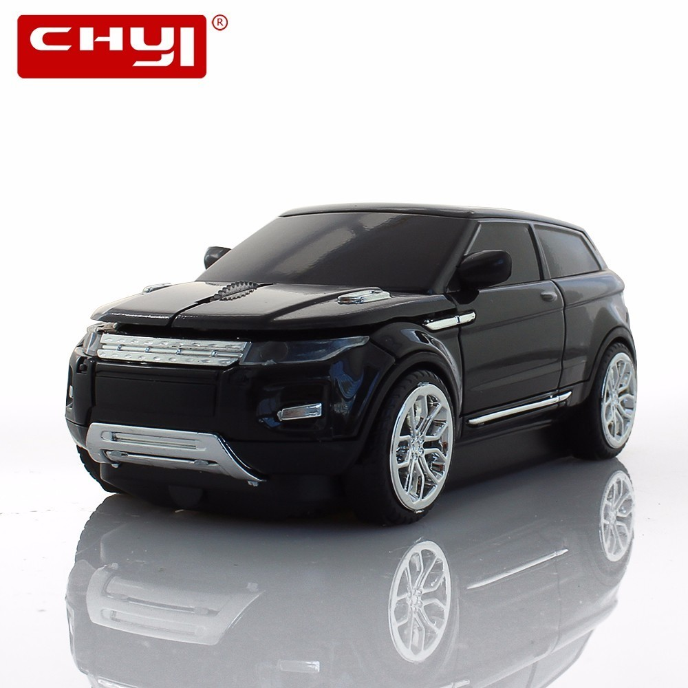 CHYI Wireless Mouse Sports Optical Black 2.4Ghz SUV Car Mice Gaming Game Mause 1600DPI For PC Laptop Computer