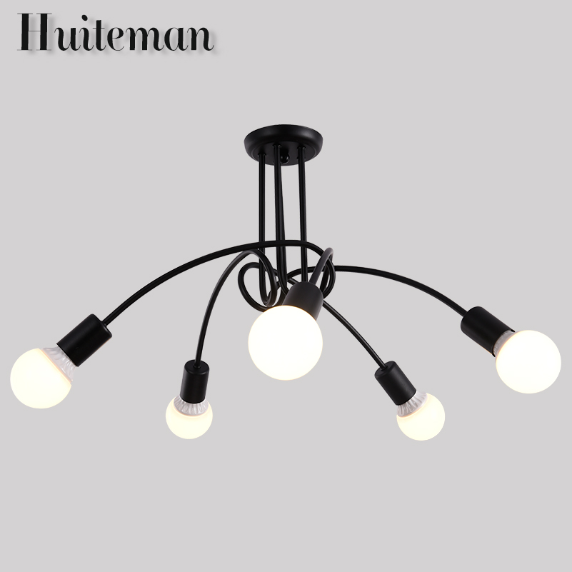 Huiteman Art Deco E27 Ceiling Light Bed Room Lamp Retro Personality Bedroom Living Room Lustre Popular Creative Black Lighting creative lamp the dog contemporary and contracted study lamp bedroom the head of a bed folding the mywood art lighting